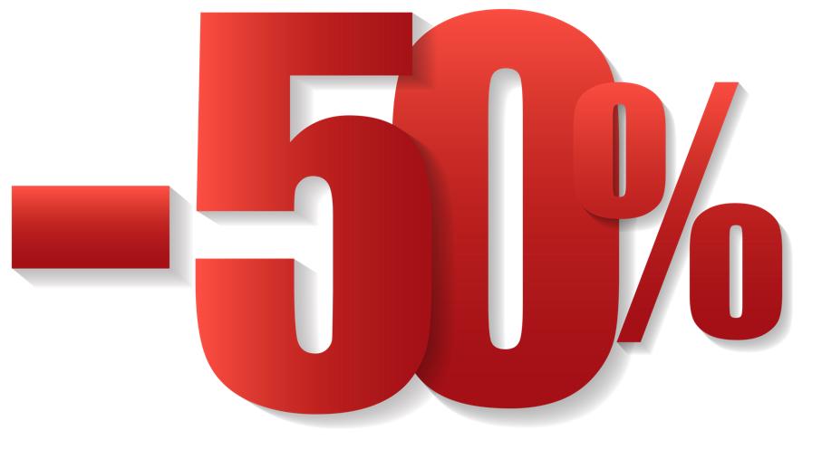 50 percento sconto